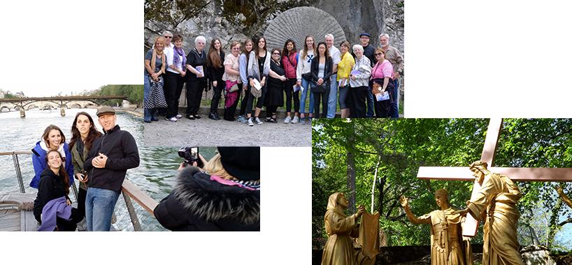Pilgrimage collage